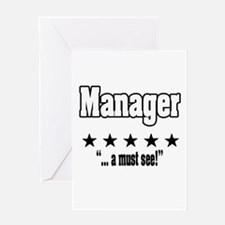 """""""Great Manager, Amazing Boss"""" Greeting Card"""