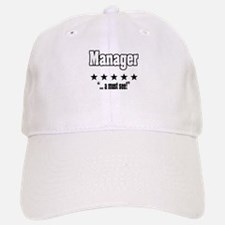 """Great Manager, Amazing Boss"" Baseball Baseball Cap"