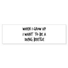 Grow up - Dung Beetle Bumper Sticker (10 pk)
