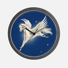 Pegasus In Flight Wall Clock