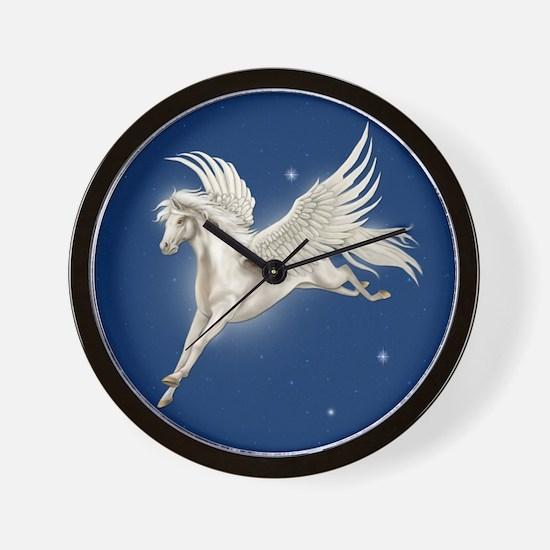 Pegasus In Flight Wall Clock