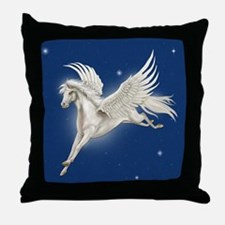 Pegasus In Flight Throw Pillow