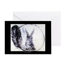 Feather Bunny Greeting Card