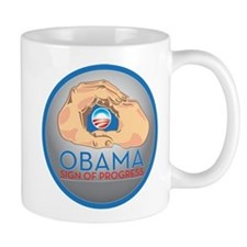 Obama Sign of Progress Mug