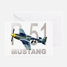 P-51 MUSTANG Greeting Card