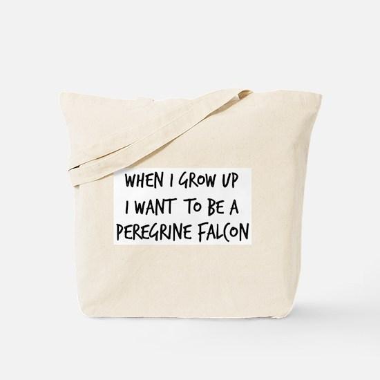Grow up - Peregrine Falcon Tote Bag