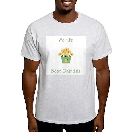 World's Best Grandma (yellow) Ash Grey T-Shirt
