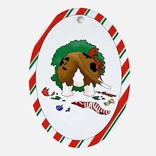 Basset Hound Christmas Oval Ornament