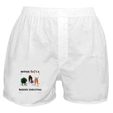 Nothin' Butt A Basenji Xmas Boxer Shorts