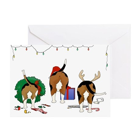 Beagle Christmas Greeting Cards, Thank You Cards, and Custom Cards ...