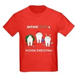 Nothin' Butt A Bichon Xmas Kids Dark T-Shirt