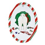 Bichon Frise Christmas Oval Ornament