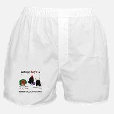 Nothin Butt Border Collie Xmas Boxer Shorts
