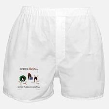 Nothin' Butt A Boston Xmas Boxer Shorts