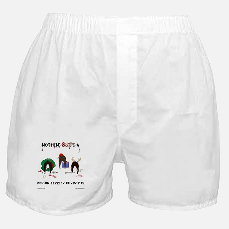 Nothin' Butt A Boston Xmas Boxer Shorts