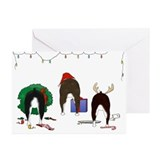 Boston terrier christmas Greeting Cards (20 Pack)