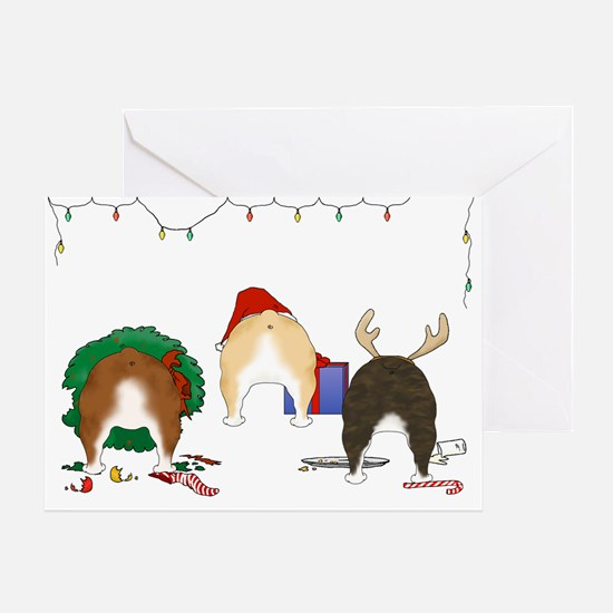 Bulldog Christmas Greeting Card
