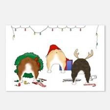 Bulldog Christmas Postcards (Package of 8)