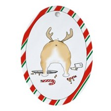 Bulldog Christmas Oval Ornament