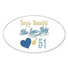 Blue Jeans 51st Oval Decal