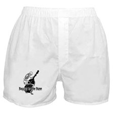 Black Skeleton Bassist Boxer Shorts