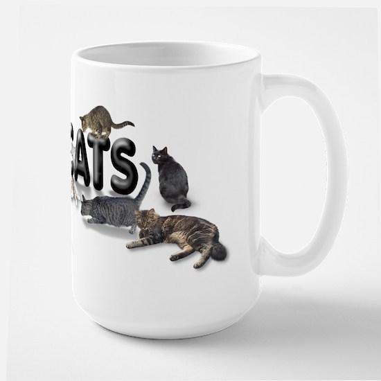 "Large Mug ""I love Cats"""