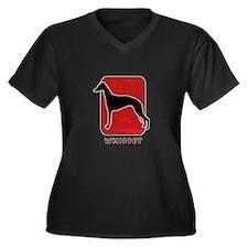 Whippet Women's Plus Size V-Neck Dark T-Shirt