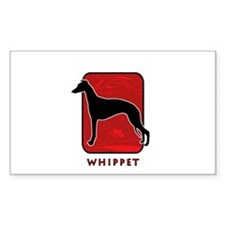 Whippet Rectangle Decal