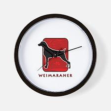 Weimaraner Wall Clock