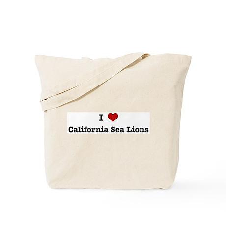 I love California Sea Lions Tote Bag