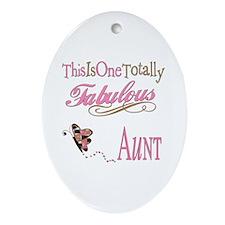 Fabulous Aunt Oval Ornament