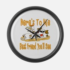 Cheers For Friends Large Wall Clock