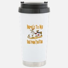 Cheers For Friends Stainless Steel Travel Mug