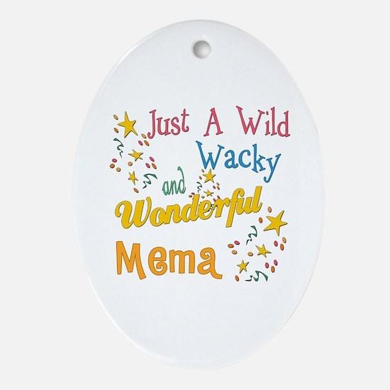 Wild Wacky Mema Oval Ornament