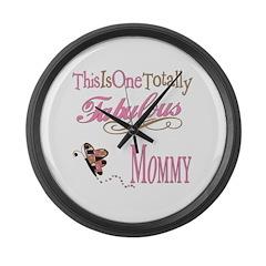 Fabulous Mommy Large Wall Clock