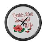 Sensational Wife Large Wall Clock