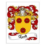 Rault Family Crest Small Poster