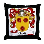 Rault Family Crest Throw Pillow