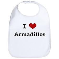 I love Armadillos Bib