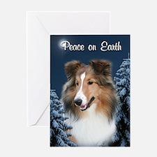 Peace Sheltie #2 Christmas Card