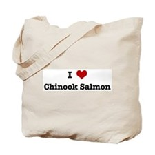 I love Chinook Salmon Tote Bag