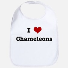 I love Chameleons Bib