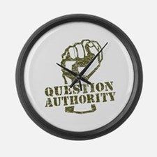 Question Authority Large Wall Clock