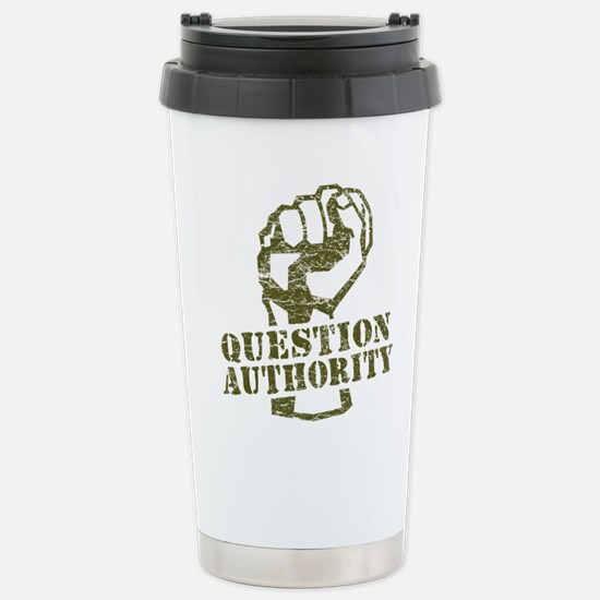 Question Authority Stainless Steel Travel Mug
