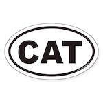 CAT Euro Oval Sticker