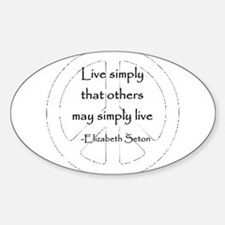 Live Simply Oval Decal