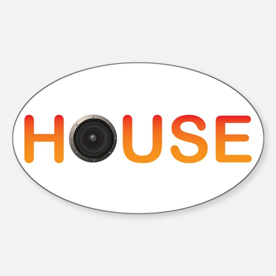 House Music Oval Decal