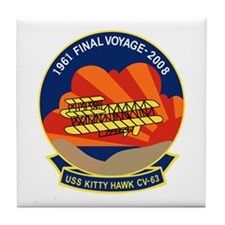 Unique Kitty hawk military carrier Tile Coaster
