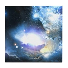 Space Clouds Tile Coaster