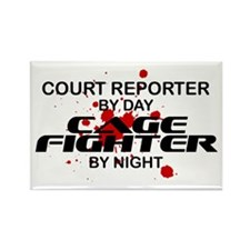 Court Reporter Cage Fighter by Night Rectangle Mag